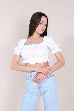 Блуза  из льна белая желтая лиловая