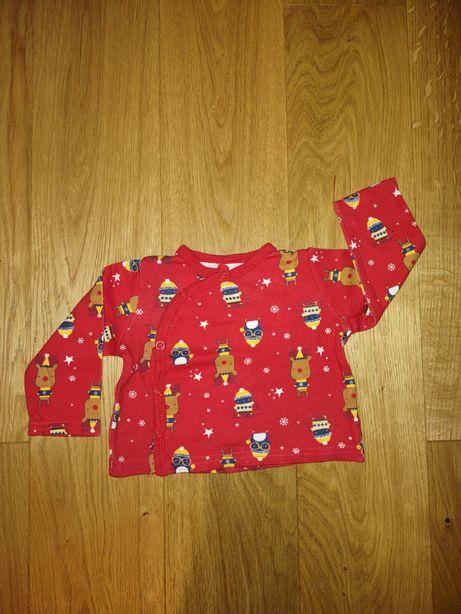Koszulka świąteczna 68 z długim rękawem