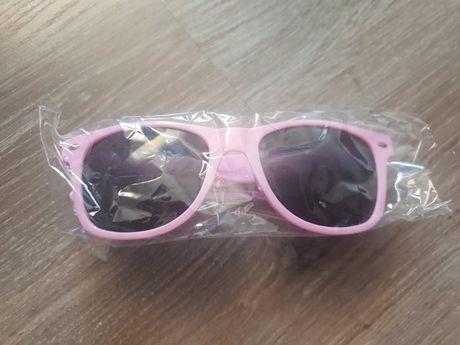 NOWE różowe okulary