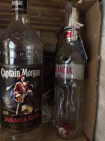 Банки для консервации с под коньяка виски водки бутылки кофе, пустые