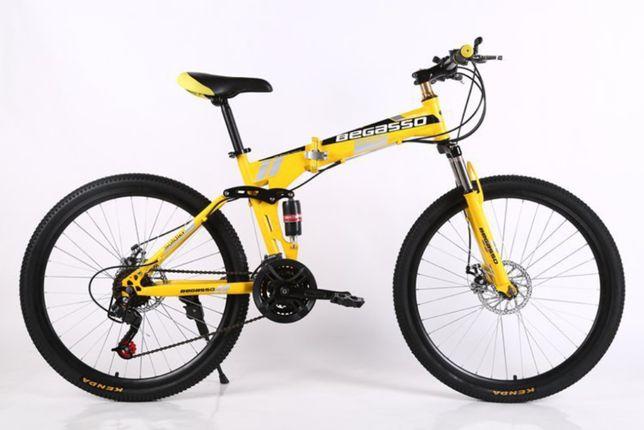 """Велосипед складной 26"""" Begasso 17"""" желтый, есть оплата частями"""