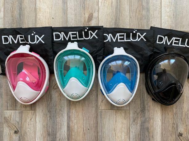 Маска для плавания снорклинга бу из США, DIVELUX. 2 поколение