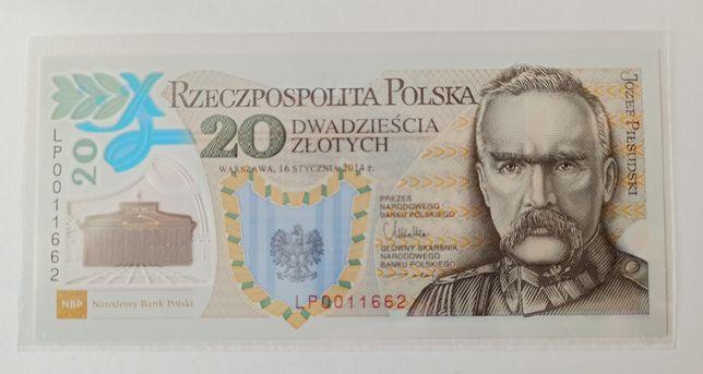 Banknot 20zł 100. rocznica utw. Legionów Polskich n-r 11662 Legiony