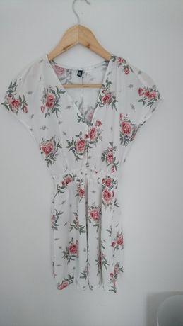 Tunika sukienka h&m floral kwiaty zwiewna S