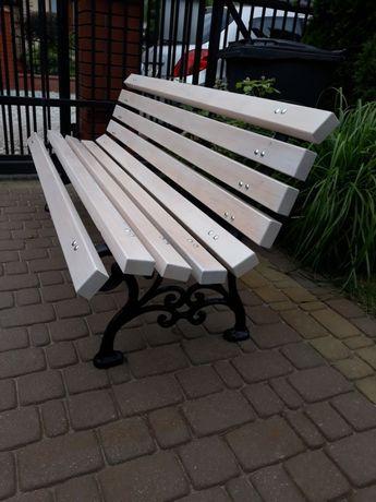ławka ogrodowa parkowa nogi żeliwne