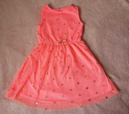Neonowa sukienka r. 110