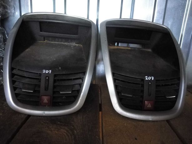 Peugeot 207 konsola środkowa zegar wyświetlacz kpl