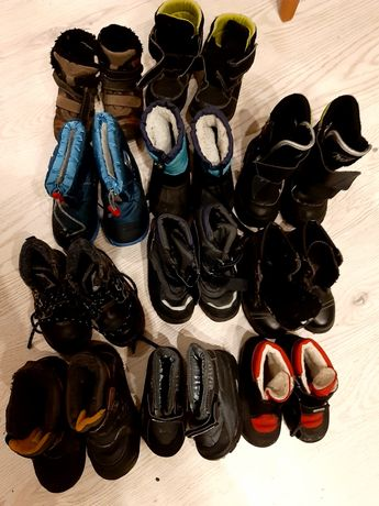 Buty dziecięce zimowe.