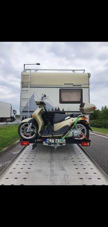 Rampa/Platforma na skuter/motocykl montowana na hak 150kg max.