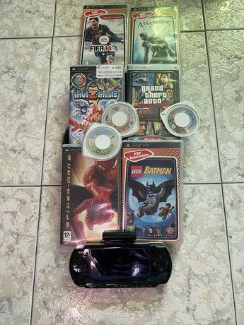 PSP com  9 jogos nova