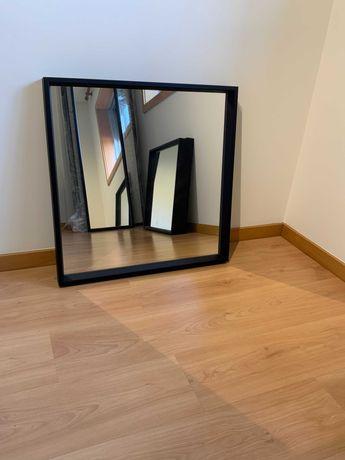 Espelho NISSEDAL Ikea 65x65 Preto