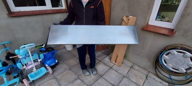 Parapet metalowy srebrny