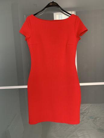 Платье красное Oodji
