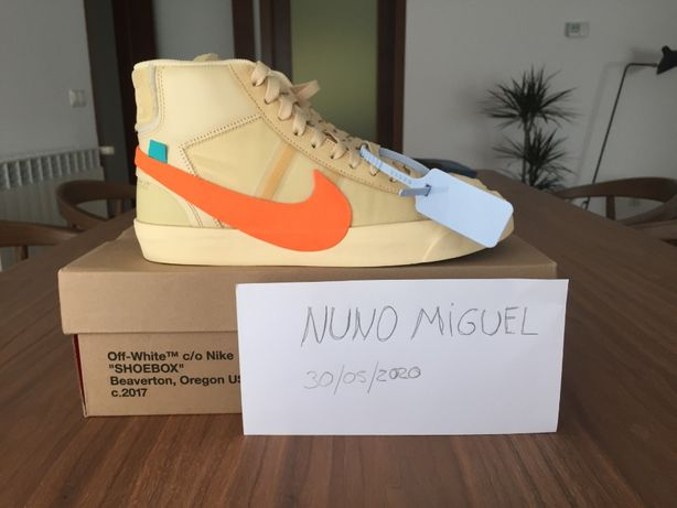 Nike Blazer Mid Off-White All Hallow's Eve - Size 7,5