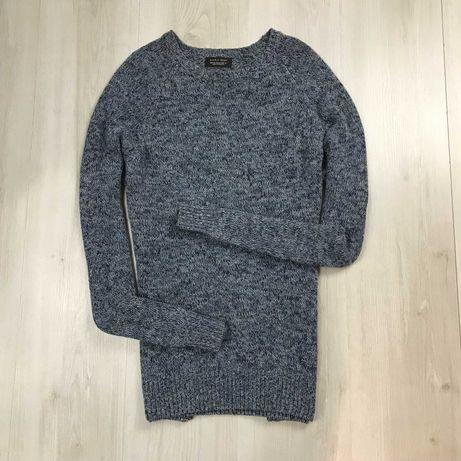 M Свитер Zara Man вязанный кофта толстовка свитшот джемпер пуловер