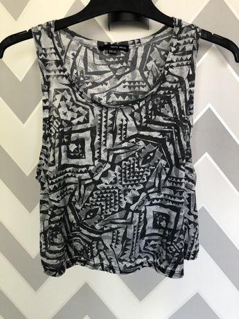 Szary top, koszulka w orientalny print Tally Weijlk