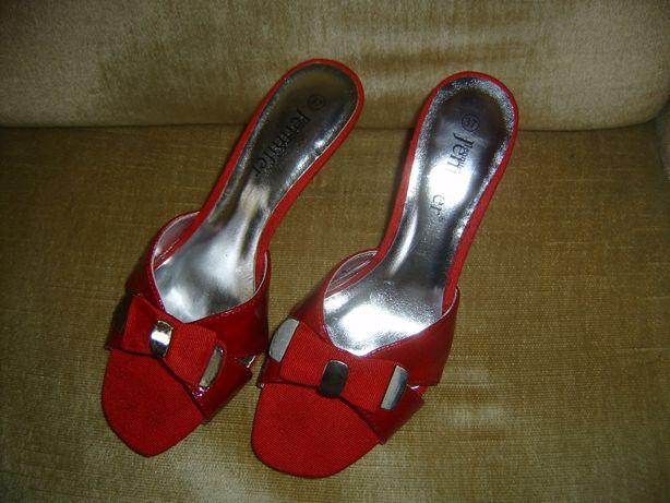 Ładne sandałki -szpilki klasyczne -czerwone 37- Słupsk !