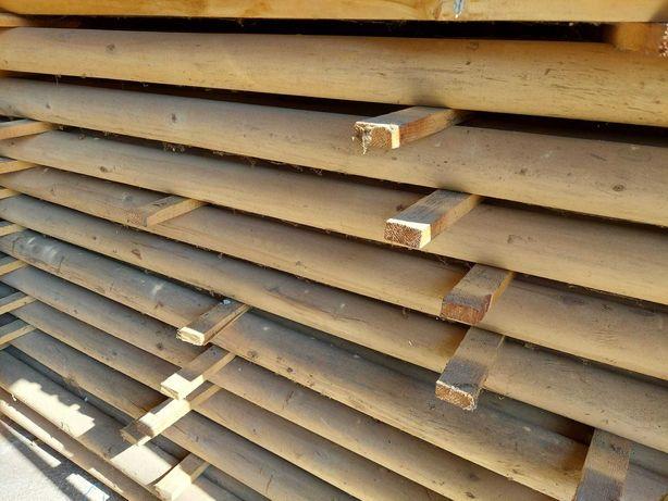 Wałki drewniane okrąglaki słupki słupy belki fi 95mm 2,2m huśtawka