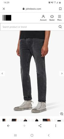 Spodnie jeansowy All Saints Ridge Tapered W28 Allsaints nowe
