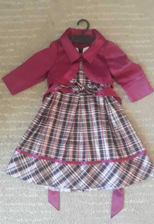 Sukienka wizytowa, święta 128/134 + bolerko
