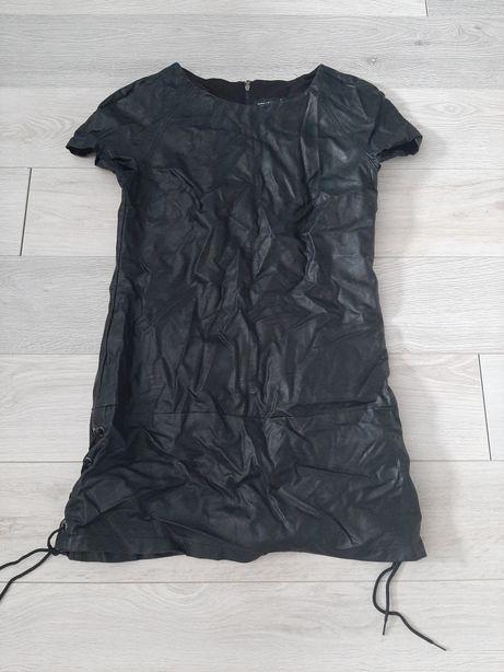 Sukienka z eco skorki