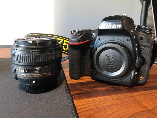 Nikon D750 + lente Nikon AF-S 50mm f1.8