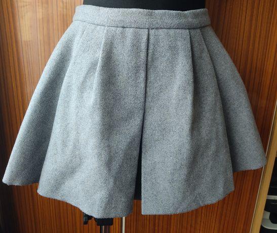 Spódniczka mini amisu szara Grey melanż