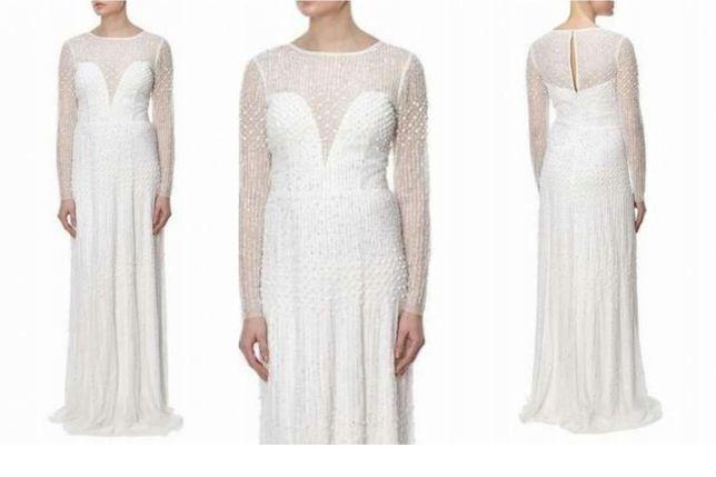 Suknia ślubna bogato zdobiona, wysyłka gratis