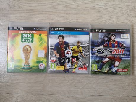 PS3 3 Gry Fifa world cup brazil 2014 , Fifa 13 , Pes 2011.