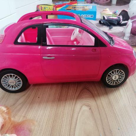 Samochód cabrio Fiat 500 Barbi + lalka Barbi