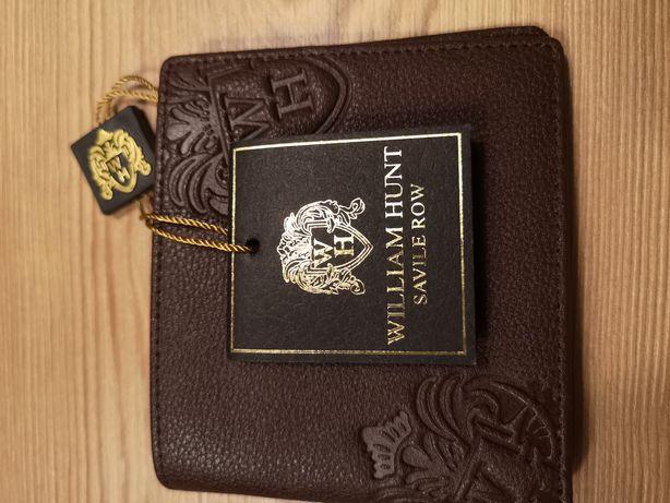 Nowy portfel William Hunt brązowy. Polecam
