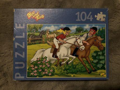 Puzzle z końmi