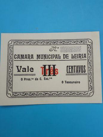 Nota-cédula Câmara Municipal de Leiria