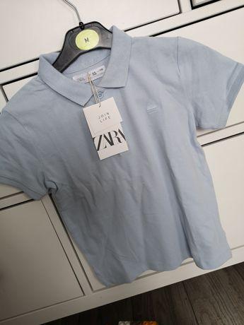Koszulka Zara polo bluzka 110 błękit
