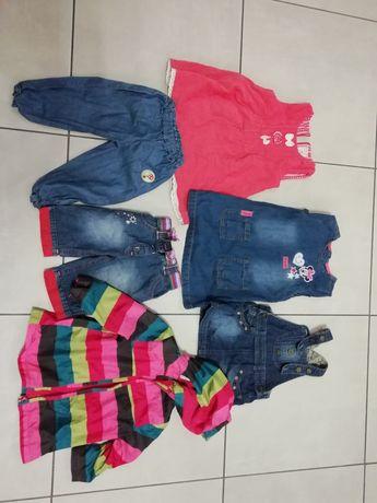 Paka ubrań dla dziewczynki rozmiar 62-86