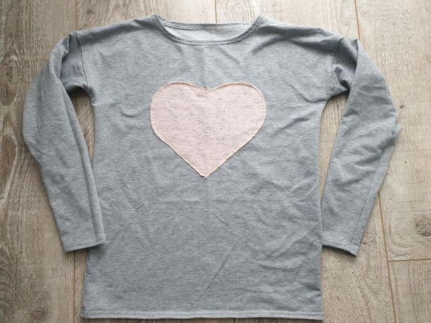 Bluza dresowa serce r.158 stan bdb