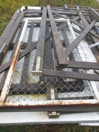 Furtka bramka drzwi stalowe siatka ogrodzenie