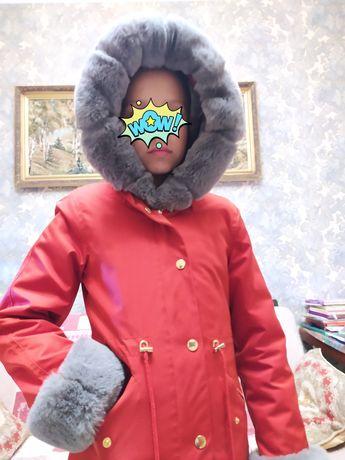 Куртка - парка  зимняя на девочку