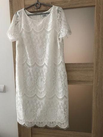 Suknia ślub/poprawiny rozmiar 44 biała