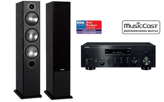 Monitor Audio Bronze 6 + Yamaha R-N803D zestaw stereo