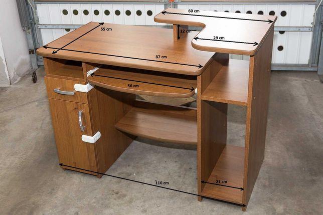 Biurko komputerowe, wysuwana półka, nadstawka