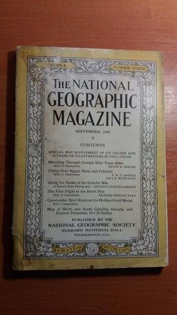 National Geographic September 1926