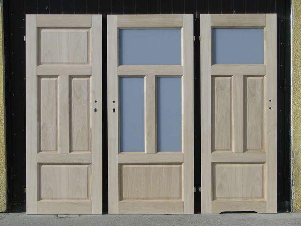 Drzwi wewnętrzne dębowe PROSTE z oscieżnicą