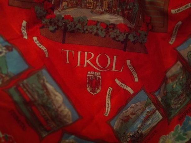 платок старый отличный 66х65 Tirol achensee АВСТРИЯ ГОРОДА места