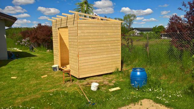 Domek drewniany, narzędziowy, ogrodowy