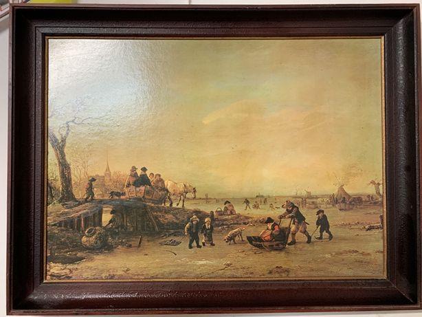 Obraz pejzaż zimowy A. Van Ostade