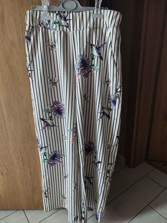 Spodnie szerokie nagawki Szachownica