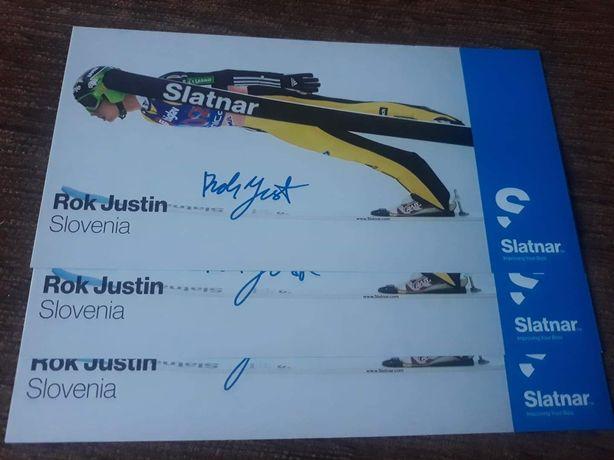 Autograf Rok Justin - Skoki Narciarskie