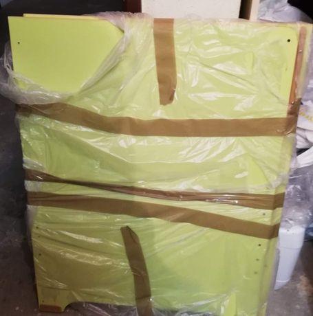 Cama de criança cor cabeceira verde alface