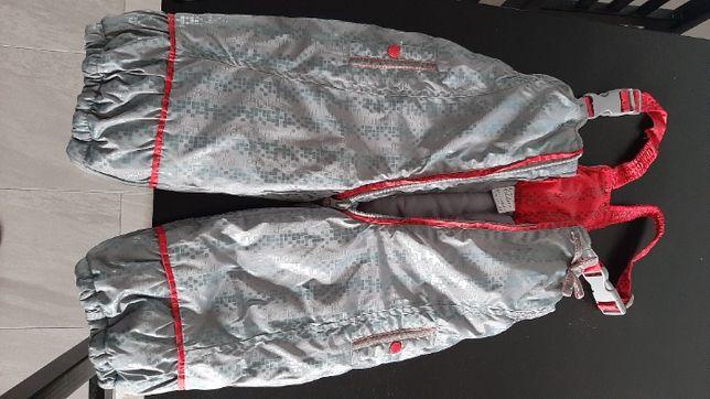 Spodnie zimowe ocieplane, na śnieg, na szelkach COCCODRILLO 80